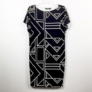 Lauren Ralph Lauren Geometric Shift Dress